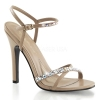 MELODY-15 Taupe Faux Leather/Rhinestone
